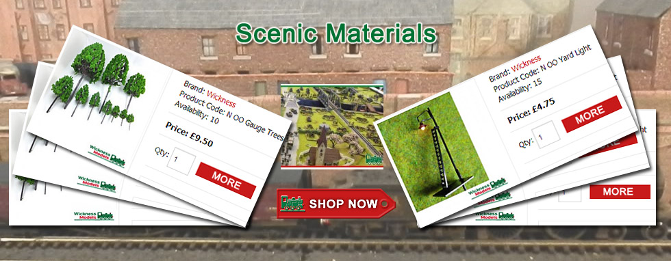 A blend of products and accessories that will aid in constructing a realistic layout - click above for more....