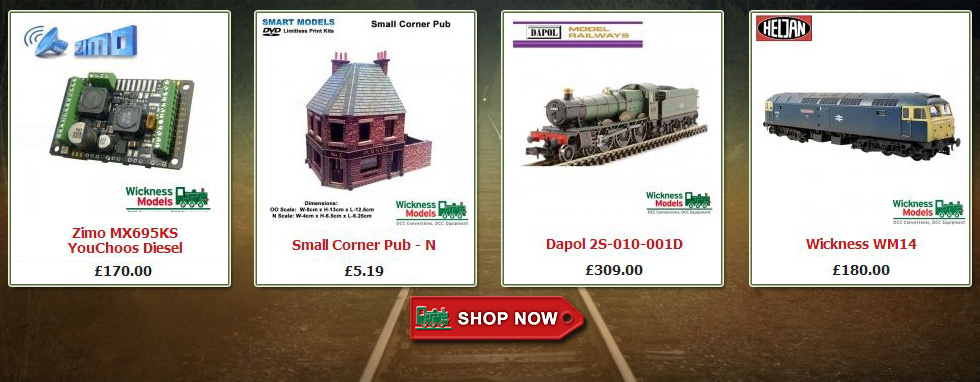 Our ever-growing range of top quality model rail products available now in our online shop - click above to shop now