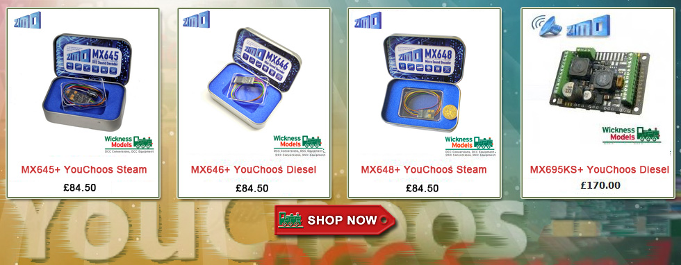Zimo DCC Sound Decoders complete with Youchoos UK sounds - click above to go directly to the shop